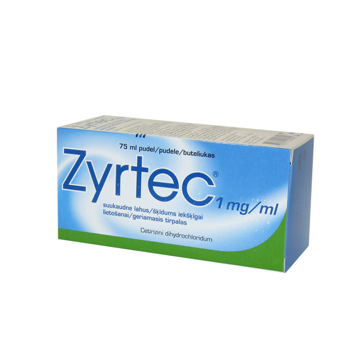 ZYRTEC 1mg/ml šķīdums 75ml